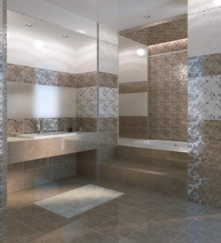Керамическая плитка Golden Tile Сирокко Темно-бежевый 30х60 декор