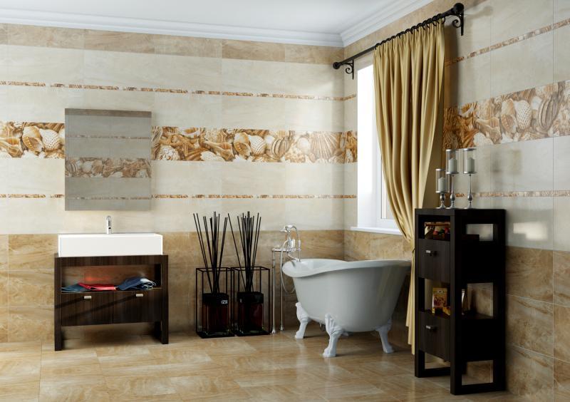 Керамическая плитка Golden Tile Sea Breeze Бежевый 2 30х60 декор
