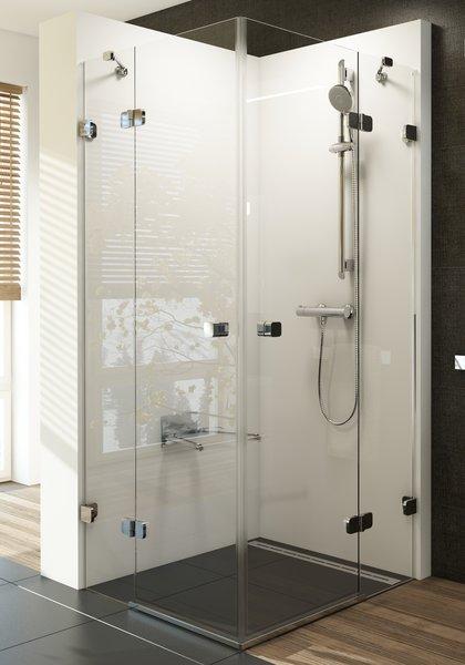 Brilliant BSRV4-90 хром+транспарентДушевые ограждения<br>Душевой уголок Ravak Brilliant BSRV4 90 Г-образный, с двумя распашными дверьми. Состоит из двух ровных неподвижных частей и двух ровных подвижных частей, образующих двери. Витраж из безопасного стекла толщиной 6/8 мм.<br>