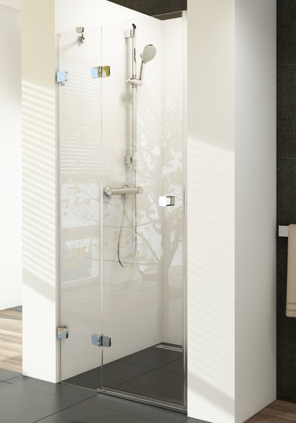 Душевая дверь в нишу Ravak Brilliant BSD2-80 A L хром+транспарент душевая дверь в нишу ravak elegance esd1 80 хpом тpанспаpент l