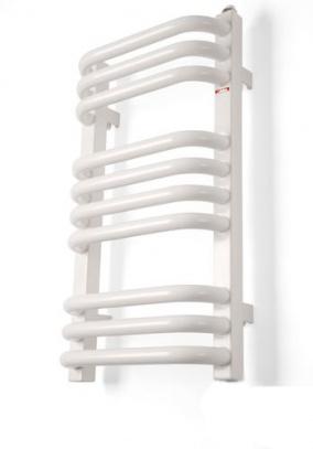 Alex 1140х500 ммПолотенцесушители<br>Полотенцесушитель электрический Terma Alex наполнен маслом. Маслонаполненные полотенцесушители равномерно прогреваются, долгое время отдают тепло и медленно остывают, тем самым сокращая энергопотребление. Полотенцесушитель Alex может быть скомплектован с любым терморегулятором (ТЭНом) Terma. Вертикальные коллекторы в разрезе квадрат 30x30 мм, горизонтальные выгнутые в форме буквы С трубки диаметром 22 мм, не регулируемые крепления. Порошковая краска, стандартный цвет - RAL 9016 белый. Рабочая температура до 65°С.<br>