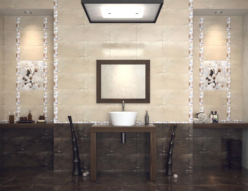 Керамическая плитка Golden Tile Sakura Коричневый 25х40 настенная плитка настенная 23х50 metro темно коричневый