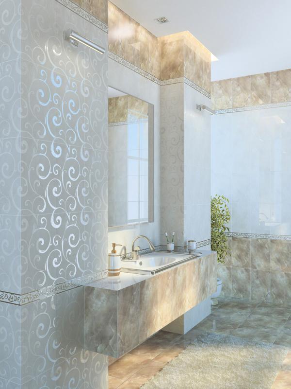 Керамическая плитка Golden Tile Оникс Бежевый 25х40 декор