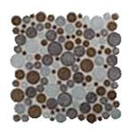 Керамическая мозаика Colorker Edda Mosaico Sphere Brown/Grey - фото