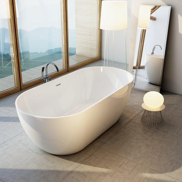 Freedom БелаяВанны<br>Отдельностоящая акриловая ванна Ravak Freedom XC00100020. Ванну Freedom можно установить в любом удобном для вас месте: в центре ванной комнаты или у стены. Устанавливается вместе со смесителем  FM 080.00. Для ванны Freedom разработан оригинальный смеситель FM 080,00, который  устанавливается на пол и прекрасно дополняет её. Возможность комбинирования с мебелью, умывальником и аксессуарами RAVAK, Chrome.<br>