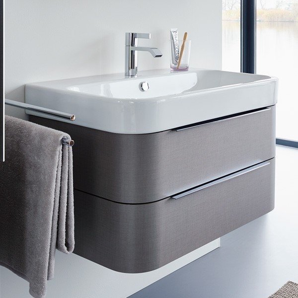 Happy D 2 H2636407575 ЛенМебель для ванной<br>Тумба под раковину Duravit Happy D 2 H2636407575 подвесная. Раковина в комплект не входит и приобретается дополнительно. Цвет лен.<br>