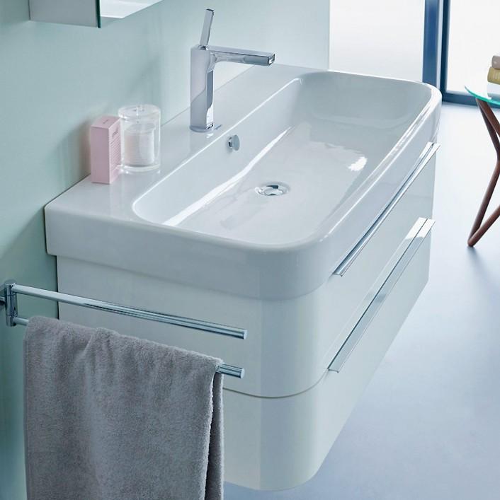 Happy D 2 H2636502222 Белый глянецМебель для ванной<br>Тумба под раковину Duravit Happy D 2 H2636502222 подвесная. Цвет белый глянец.<br>