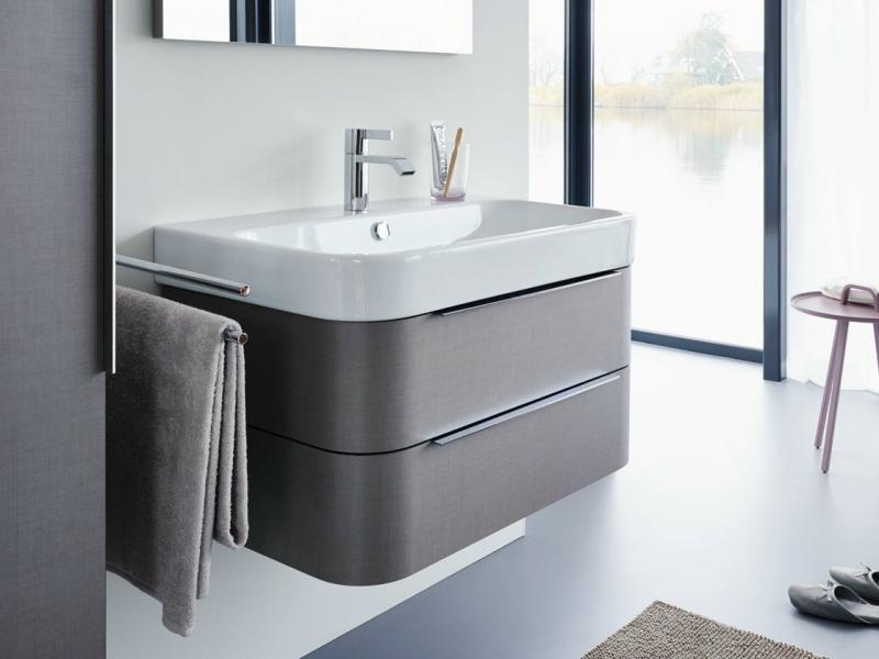 Happy D 2 H2636507575 ЛенМебель для ванной<br>Тумба под раковину Duravit Happy D 2 H2636507575 подвесная. Цвет лен.<br>