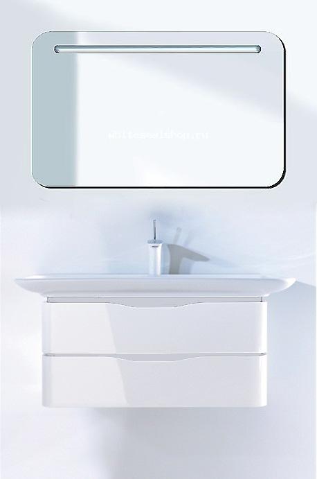 PuraVida PV676708585 БелаяМебель для ванной<br>Тумба под раковину Duravit PuraVida PV676708585 подвесная. Цвет тумбы белый глянец, цвет вставок для ручек белый.<br>