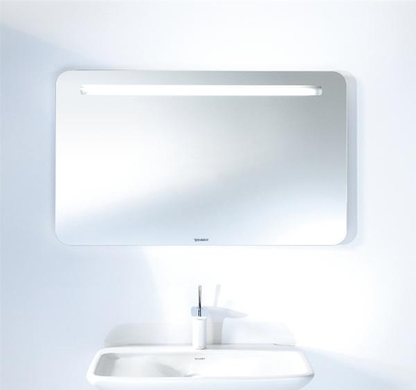 PuraVida PV942108585 Белый глянецМебель для ванной<br>Зеркало Duravit PuraVida PV942108585 настенное с подсветкой. Цвет белый глянец.<br>