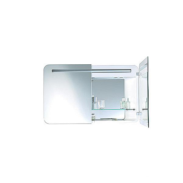 PuraVida PV942508585 Белый глянецМебель для ванной<br>Зеркальный шкаф Duravit PuraVida PV942508585 подвесной с полочкой, задней зеркальной стенкой и подсветкой. Цвет белый глянец.<br>