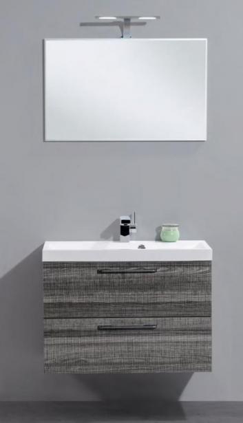 Tongo TONGO-800-2C-SO Bianco LucidoМебель для ванной<br>Тумба под раковину подвесная Belbagno Tongo TONGO-800-2C-SO-BL с двумя выкатными ящиками, с доводчиками. Раковина TONGO-800-LVB приобретается отдельно.<br>