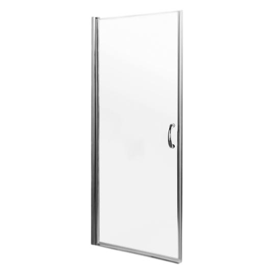 Bliss L 90x190 профиль хром, стекло прозрачноеДушевые ограждения<br>Стеклянная душевая дверь в нишу АМ РМ Bliss L W53S-D90-000CT 90x190 одностворчатая, распашная, открывающаяся наружу.<br><br>Возможен левосторонний и правосторонний монтаж.<br>Прозрачное закаленное стекло толщиной 6 мм.<br>Профиль и ручка хромированные.<br>Механизм плавного открывания.<br>Магнитный уплотнитель для плотного и бесшумного закрывания.<br>Уплотнитель нижнего края двери.<br>Регулировка монтажного размера от 10-20 мм в большую сторону.<br><br>