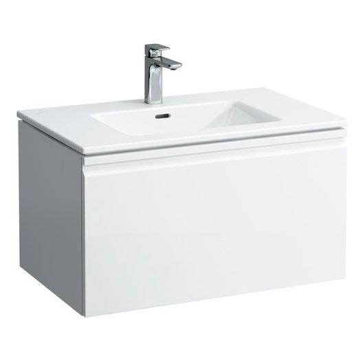 Pro S 8.6096.4.463.104.1 Белая (матовая)Мебель для ванной<br>Тумба с раковиной Laufen Pro S 8.6096.4.463.104.1. Монтаж подвесной. Материал корпуса: влагостойкая ЛДСП. Матовое покрытие корпуса. Материал фасада: МДФ. Материал раковины: фаянс. С ящиками.<br>
