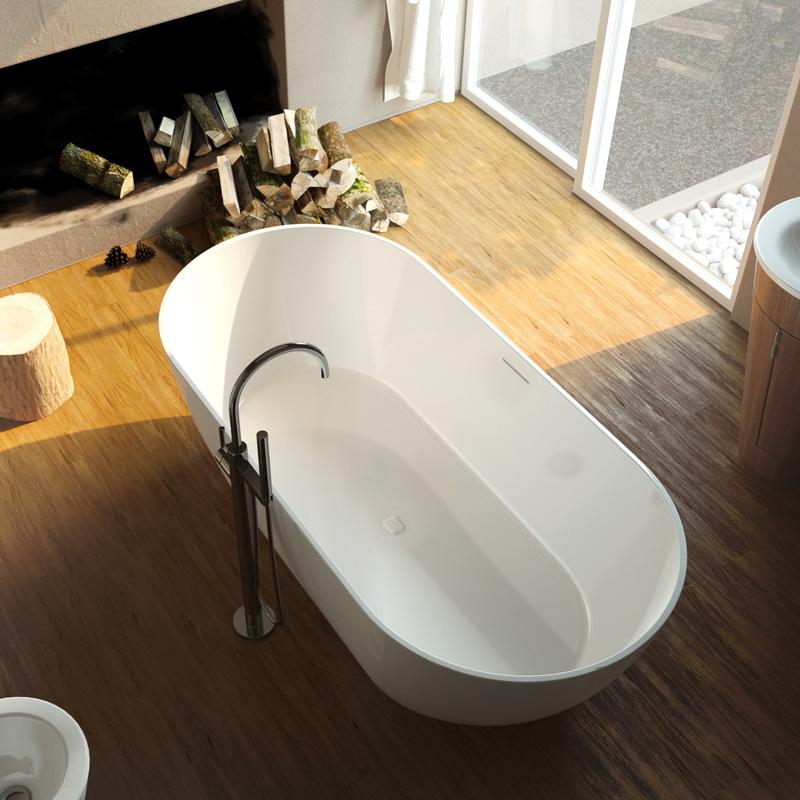 Palermo 169x80 цвет белыйВанны<br>Ванна из литого мрамора Alpen Palermo 1690x800x570 PAL-170M. Цвет белый.<br>