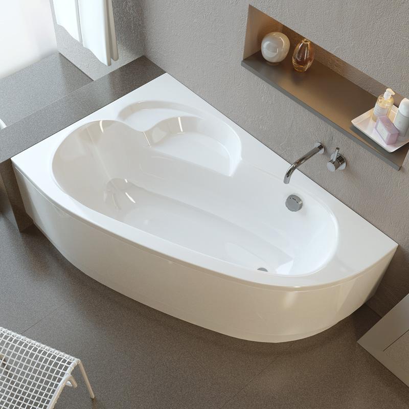 Terra 160 цвет белый. Правая ориентация.Ванны<br>Ванна Alpen Terra 1600x1050x480 AVA0043. Цвет белый. Ориентация правая.<br>