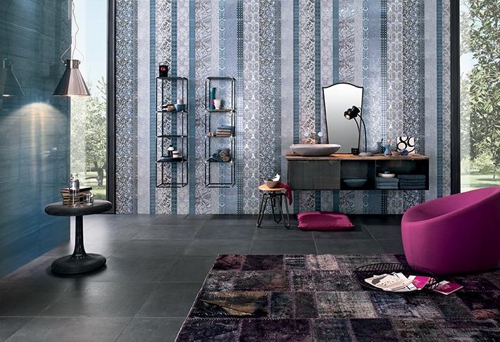 Керамическая плитка Impronta Shine Batik Turchese Dec.A 24х59 декор