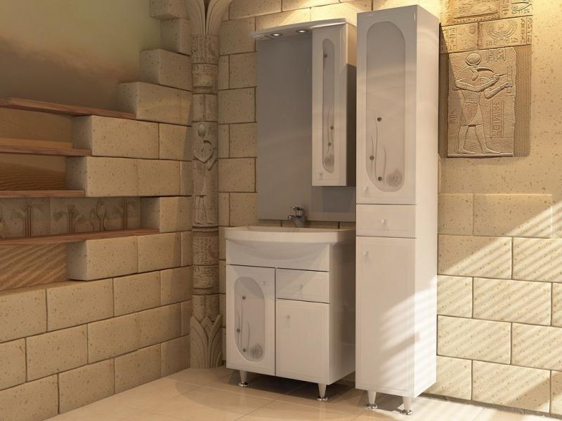 Астра Витраж 62-1Н БелаяМебель для ванной<br>Тумба под раковину напольная АСБ-мебель Астра Витраж 62-1Н Ракушка, с двумя дверцами и одним выдвижным ящиком.<br>