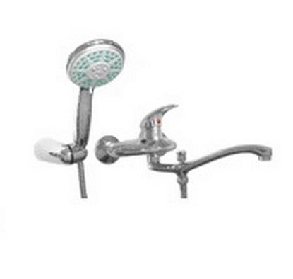 Comodo 24.033.00 ХромСмесители<br>MANZZARO Comodo 24.033.00 cмеситель для ванны с поворотным носом. Лейка со шлангом идут в комплекте.<br>