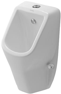 D-code 0828300000 БелыйПиссуары<br>Duravit D-code 0828300000 Писсуар с наружной подводкой, подача воды сверху (incl. all accessories).<br>