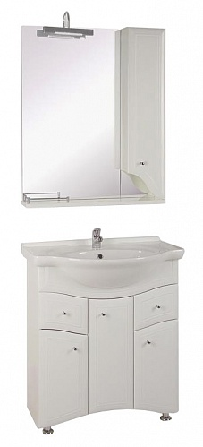 Астра-75-2Н БелаяМебель для ванной<br>Тумба под раковину напольная АСБ-мебель Астра-75-2Н. Зеркало Астра НСВ-75, раковина Байкал-75 Сантек приобретаются отдельно.<br>