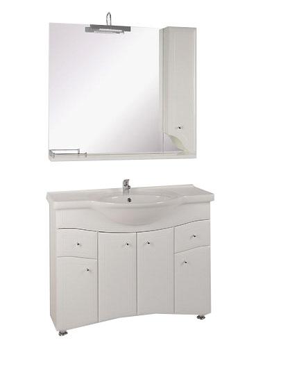 Астра-105-2Н БелаяМебель для ванной<br>Тумба под раковину напольная АСБ-мебель Астра-105-2Н. Зеркало Астра НСВ-105, раковина Дрея-105 приобретаются отдельно.<br>