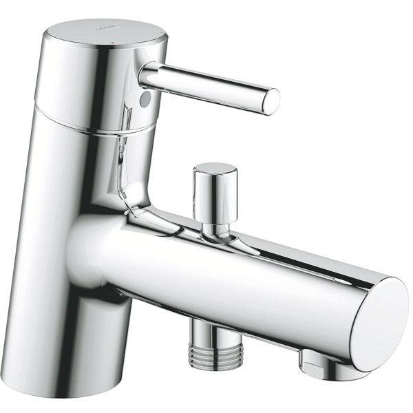 Concetto new 32701001 ХромСмесители<br>Смеситель для ванны Grohe Concetto new 32701001 монтируемый на борт ванны. Цвет хром.<br>