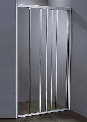 La Manche 90 ТН Тонированное стекло/профиль матовый хромДушевые ограждения<br>Дверь для душа 3-х секционная River La Manche 90 ТН раздвижная (открывается влево и вправо). Возможна регулировка ширины + 2 см от размера за счет боковых регулировочных профилей.<br>