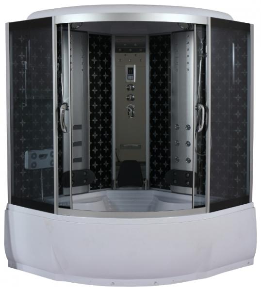 Душевой бокс River Temza 150х150х55 ТН Тонированное стекло/профиль матовый хром
