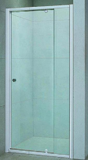 Bosfor 80 МТ   Матовое стекло/профиль хромированныйДушевые ограждения<br>Дверь для душа распашная 1-створчатая River Bosfor 80 МТ (открывается наружу). Возможна регулировка ширины двери + 2 см от размера за счет боковых регулировочных профилей. Cтекло 5 мм.<br>