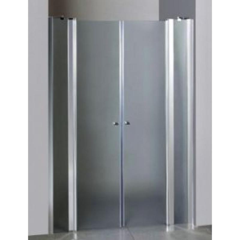 Suez 90 ТН Тонированное стекло/профиль хромированныйДушевые ограждения<br>Дверь для душа распашная 2-х створчатая River Suez 90 ТН  (открывается внутрь и наружу с фиксацией). Возможна регулировка ширины двери + 2 см от размера за счет боковых регулировочных профилей. Cтекло 5 мм.<br>