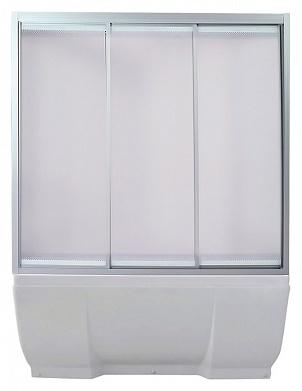 Ritsa 150 МТ Матовое стекло/профиль матовый хромДушевые ограждения<br>Шторка на ванну 3-х секционная раздвижная River  Ritsa 150 МТ (открывается влево и вправо). Возможна регулировка ширины + 2 см от размера за счет регулировочных профилей.<br>