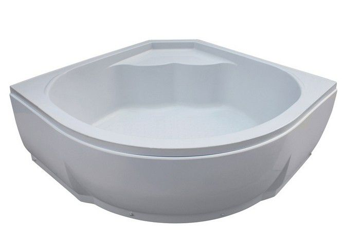 135х135х55 БелаяВанны<br>Акриловая ванна River 135х135х55. Ванна с сидением со съемным экраном, усиленный каркас, слив-перелив, глубина 41 см.<br>