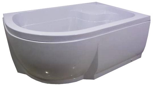 110х80х46 полукруглый  R белыйДушевые поддоны<br>Поддон акриловый полукруглый River 110х80х46 R высокий, с сиденьем, высотой 46 см на ножках, с каркасом, с сифоном. Экран съемный. Глубина 33 см.<br>