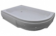 100x80x26 полукруглый  R белыйДушевые поддоны<br>Поддон акриловый полукруглый River 100x80x26 R низкий, высотой 26 см  на ножках, с каркасом, с сифоном. Экран съемный. Глубина 12 см.<br>