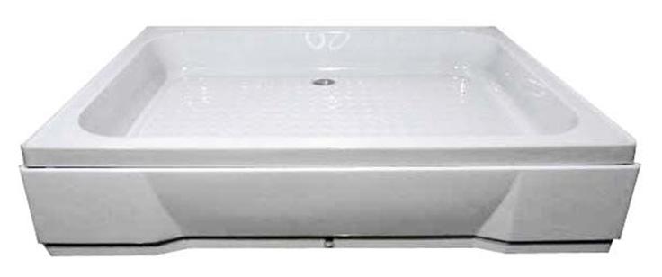 120х80х26 прямоуголыный БелыйДушевые поддоны<br>Поддон акриловый прямоуголыный River 120х80х26 в комплекте с сифоном. Высота 26 см. На ножках, с каркасом. Экран съемный.  Глубина 12 см.<br>