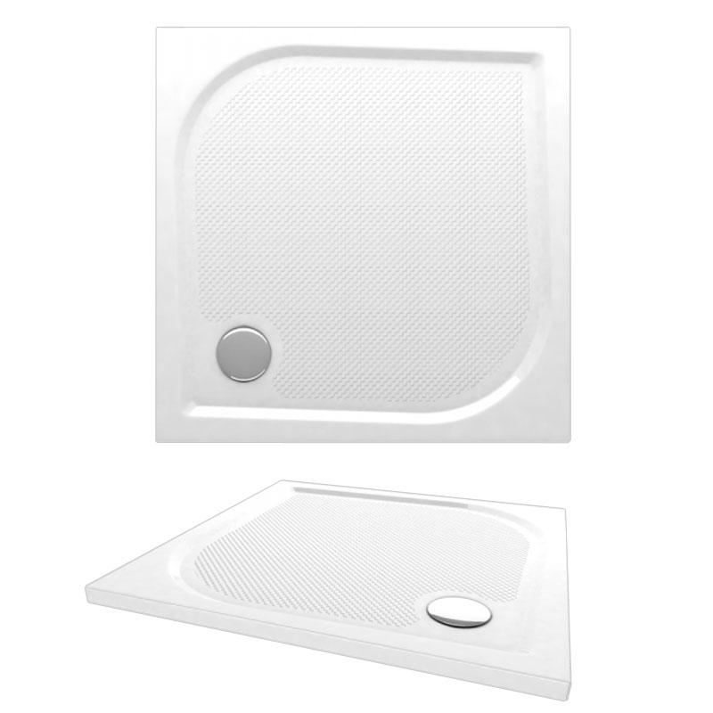 Fides 800x800 APS0080 цвет белыйДушевые поддоны<br>Мраморный поддон Alpen Fides 800x800.<br>Артикул: APS0080<br>