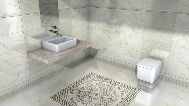 Керамическая плитка Roca Calacatta Suite Lines 30x90,2 настенная цена и фото