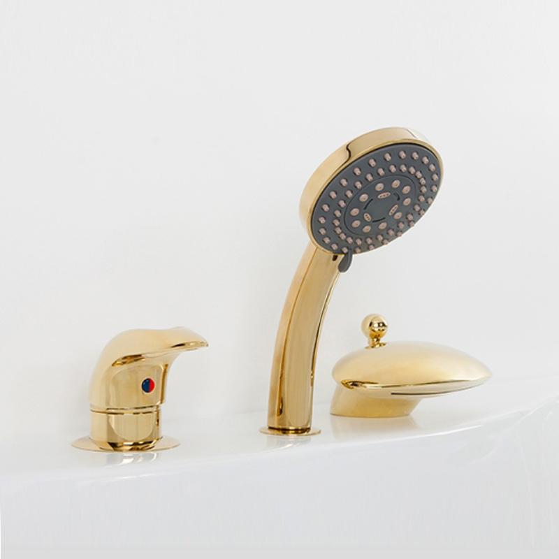 Niagara AS1004G цвет золотоСмесители<br>Смеситель на борт ванны Alpen Niagara на 4 инструмента.<br>Артикул: AS1004G<br>