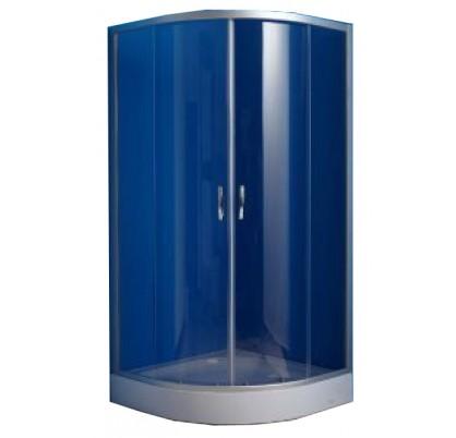 ER0508-C4 Матовый хром/тонированное стеклоДушевые ограждения<br>Душевой уголок Erlit ER0508-C3 в комплекте с низким поддоном высотой 15 см. Поддон укрепленный, регулируемый со съемным экраном. Конструкция дверей – раздвижные.<br>