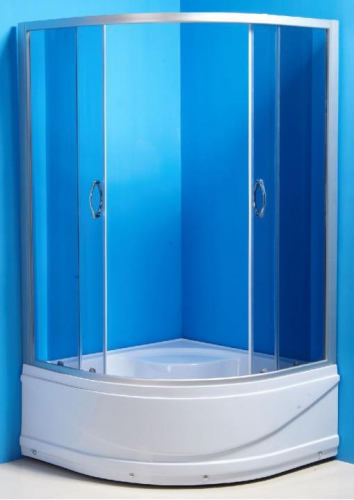 ER0509T-C4 Матовый хром/тонированное стеклоДушевые ограждения<br>Душевой уголок Erlit ER0509T-C4 в комплекте с поддоном высотой 42 см. Поддон укрепленный, регулируемый со съемным экраном. Конструкция дверей – раздвижные. Толщина стекла – 4 мм.<br>