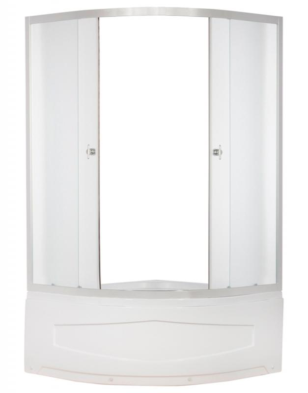 ER0610T-C3 Матовый хром/матовое стеклоДушевые ограждения<br>Душевой уголок Erlit ER0610T-C3 в комплекте с высоким поддоном высотой 420 мм. Поддон укрепленный, регулируемый со съемным экраном. Без крыши, задней стенки нет, центральной стойки нет. Конструкция дверей - раздвижные.<br>
