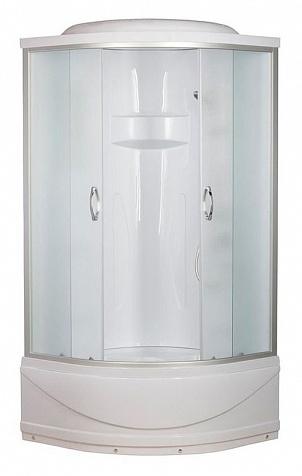 ER1509T-C3 Матовый хром/матовое стеклоДушевые кабины<br>Душевая кабина Erlit ER1509T-C3 с высоким поддоном высотой 420 мм и крышей. Задняя стенка акрил, центральной стойки нет. Тропический душ, ручной душ с регулировкой высоты, зеркало.<br>
