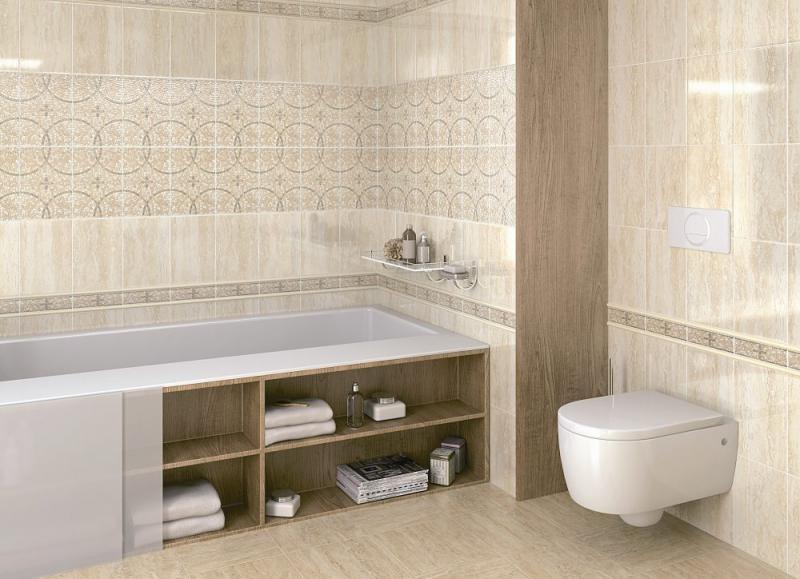 цена Керамическая плитка Kerama Marazzi Травертин STG/A106/880 20х30 декор онлайн в 2017 году