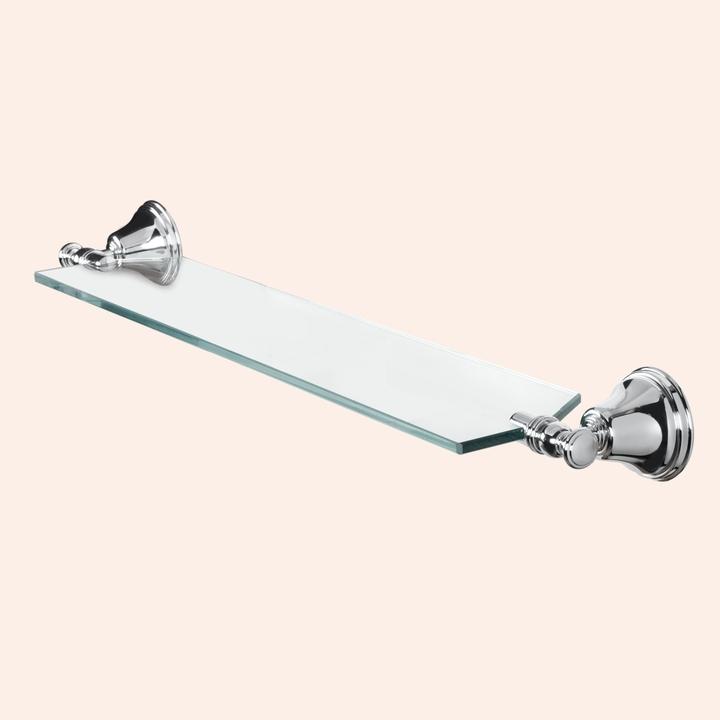 Harmony TWHA018cr   ХромАксессуары для ванной<br>Стеклянная полочка  TW Harmony TWHA018cr.  Цвет держателя хром.<br>