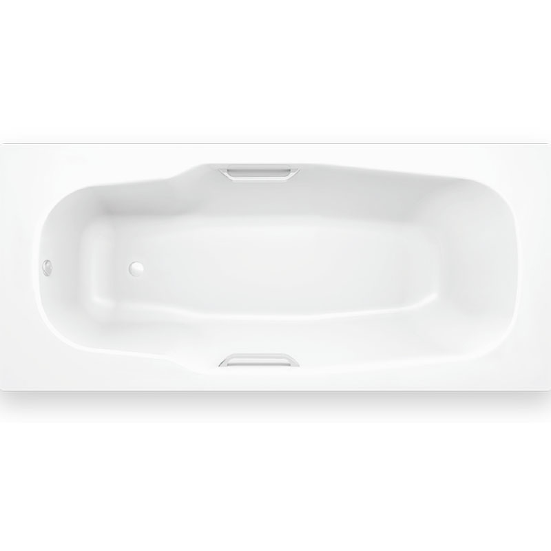 Стальная ванна BLB Atlantica HG 180x80 B80J handles с ручками Белая