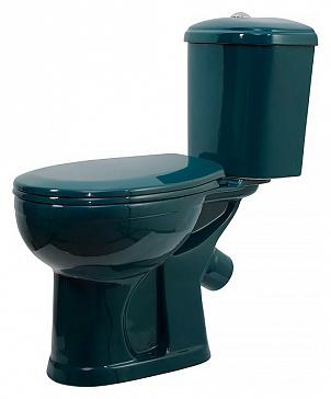 Дора 218002 зеленыйУнитазы<br>Унитаз-компакт Оскольская керамика  Дора-Антивсплеск  218002 в комплекте с сиденьем, арматура Geberit.<br>