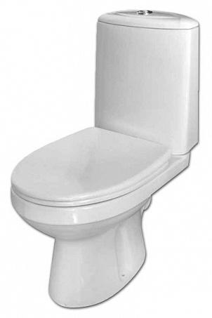 Лея 222300 белый с сидением МикролифтУнитазы<br>Унитаз-компакт Оскольская керамика Лея 222300  с сиденьем дюропласт микролифт.  Косой выпуск.<br>