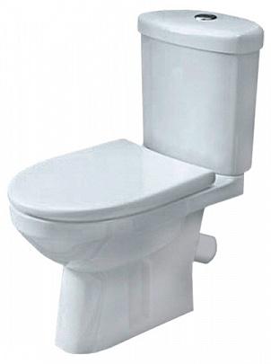 Лорена 224300 белый с сидением МикролифтУнитазы<br>Унитаз-компакт Оскольская керамика Лорена 224300 с сиденьем дюропласт микролифт. Косой выпуск.<br>