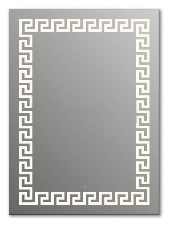 Design Q-creta H1000 100x75 смМебель для ванной<br>Зеркало прямоугольной формы из модельного ряда Design с фронтальной подсветкой. Высота зеркала - 100 см, глубина (с учетом монтажного крепления и корпуса) - 4 см, ширина - 75 см.<br>